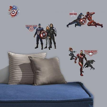 RoomMates muursticker Captain America 20 stickers