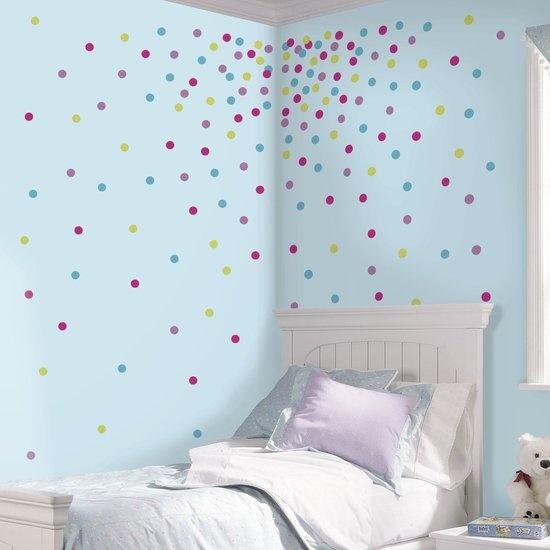 RoomMates muursticker confetti dots glitter 180 stickers