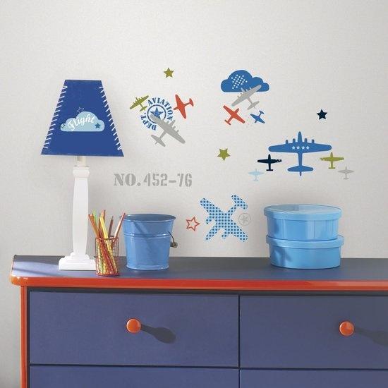 RoomMates muurstickers zutano aviation 21 stickers