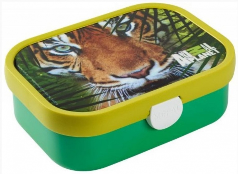 Rosti Mepal broodtrommel Animal Planet 176 x 130 x 58 mm Tijger