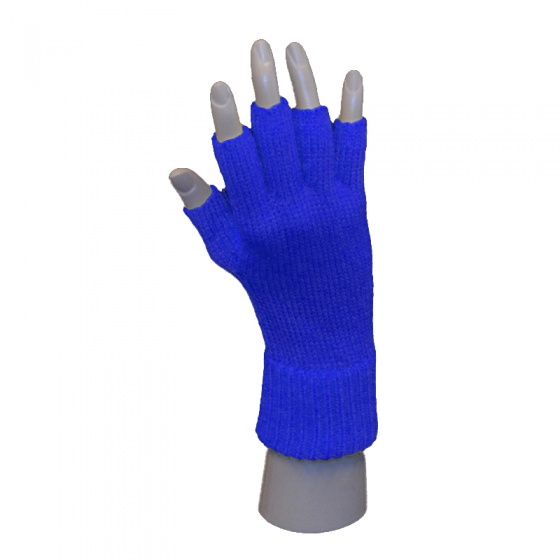 Handschoen vingerloos blauw