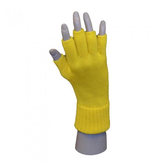 Handschoen vingerloos geel