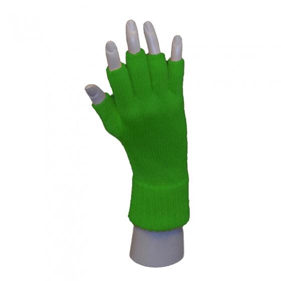 Handschoen vingerloos groen