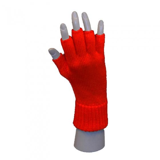 Handschoen vingerloos rood