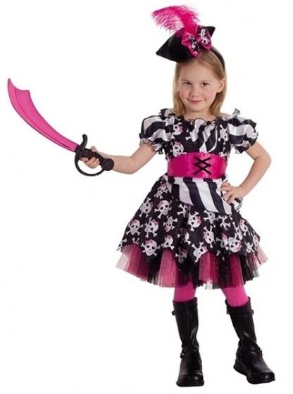 Rubie's kinderkostuum piratenjurk meisjes polyester roze maat M