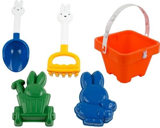 Rubo Toys Nijntje strandset 5 delig oranje