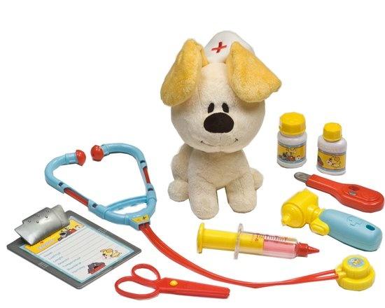 Rubo Toys Woezel En Pip dierendokterset 9 delig