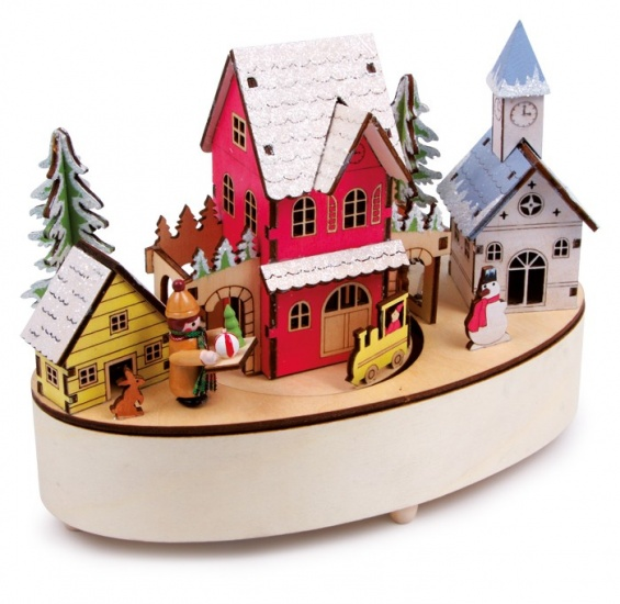 Small Foot Muziekdoosje en LED ''wintertijd'' 21 x 11 x 16 cm
