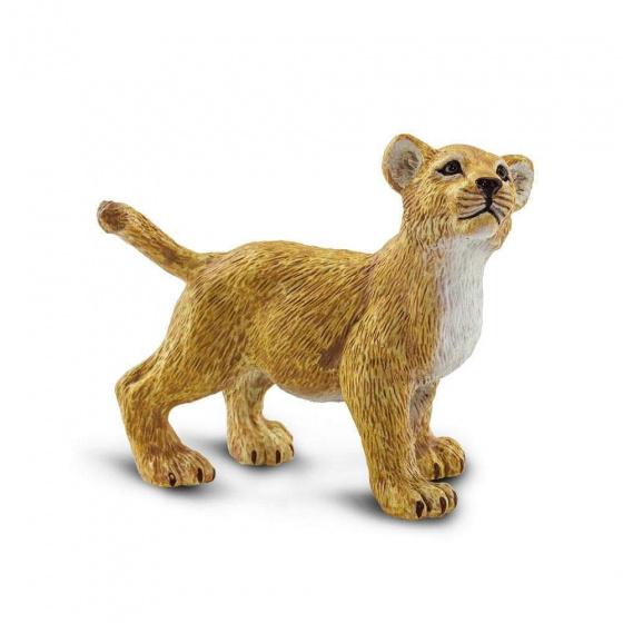 Safari speelfiguur Leeuwenwelp junior 7 x 3,5 x 6 cm geel kopen