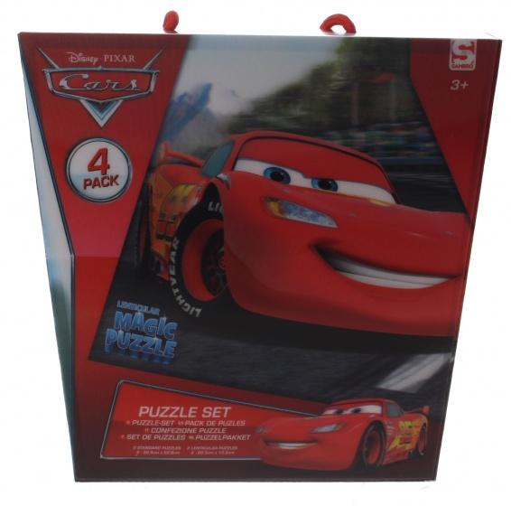 Sambro 3D puzzel Cars 4 x 24 stukjes rood