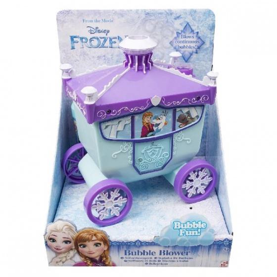 Sambro bellenblaasmachine Frozen koets 15 cm paars/blauw