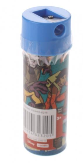 Sambro kleurpotloden in koker Star Wars 12 stuks 11 cm blauw