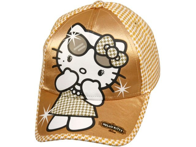 Sanrio Hello Kitty cap goud junior maat 52/54