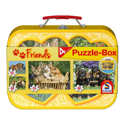 Schmidt puzzel huisdieren 2 x 26 en 2 x 48 stukjes