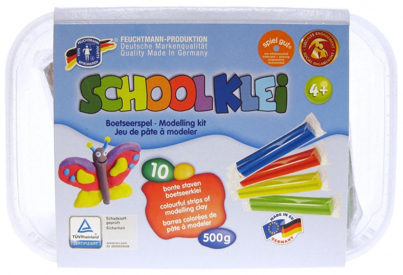 Feuchtmann Schul Knet Klei Set One for Two Box Maxi 500 gram