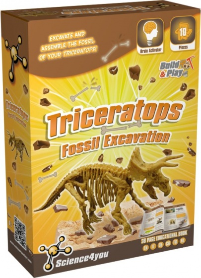 Science 4 You Triceratops palaeontologie experimenteerset