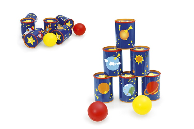 Scratch Blikgooien tin can Big Bang game metaal blauw