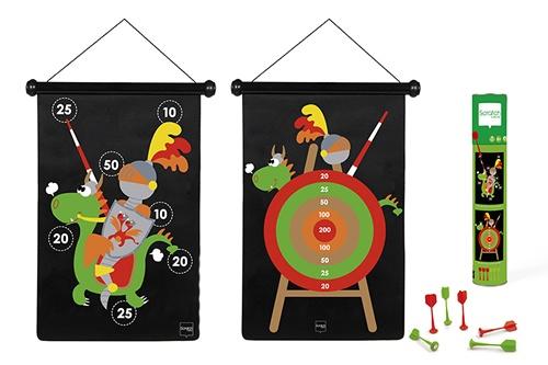 Scratch dartspel ridders magnetisch 36 x 55 cm tweezijdig