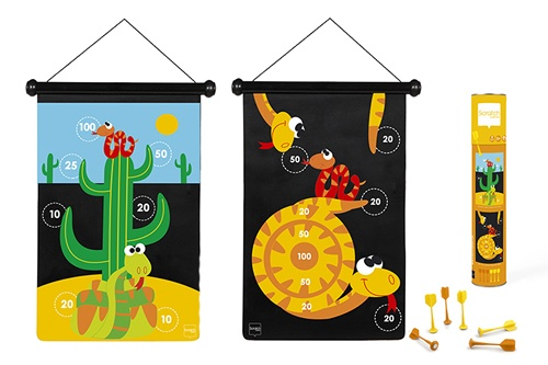 Scratch dartspel woestijn magnetisch 36 x 55 cm tweezijdig