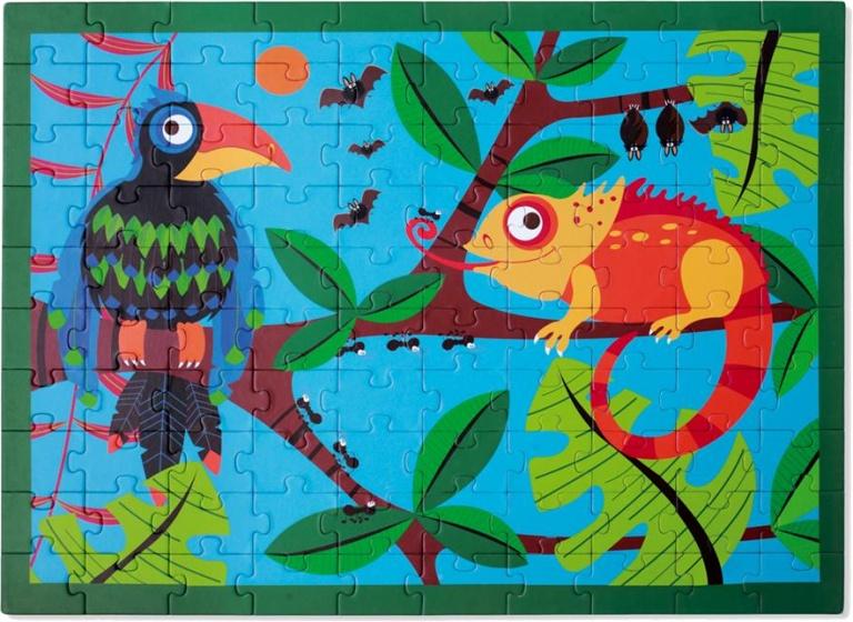 Scratch legpuzzel Toekan jungle 100 stukjes