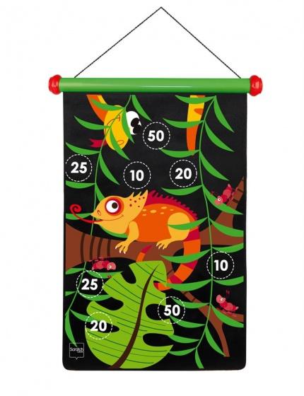 Scratch magnetisch dartspel Jungle 55 cm