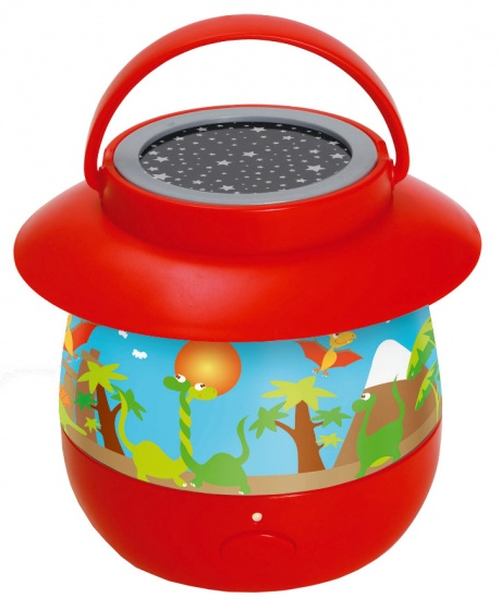 Scratch nachtlamp Dino junior rood 14 x 12,7 cm