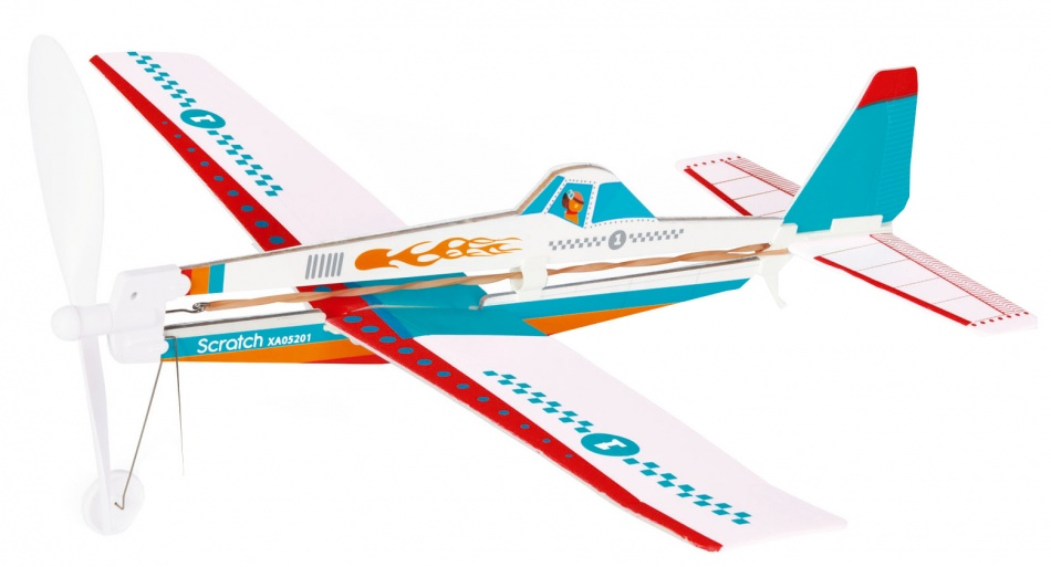Scratch Outdoor: Wind up vliegtuig 36 x 42 x 20 cm wit