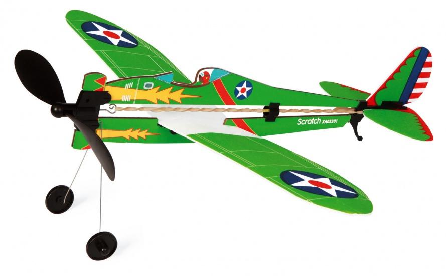 Scratch Outdoor: Wind up vliegtuig 36 x 42 x 20 cm groen