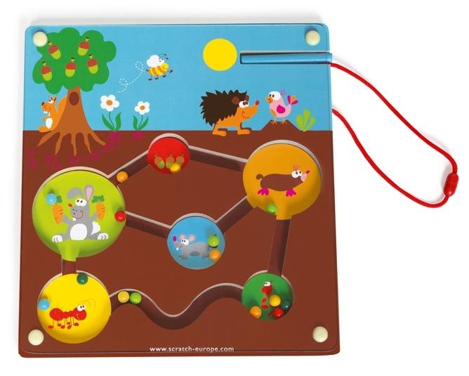 Scratch preschool: labyrint magnetische tuin 24 cm