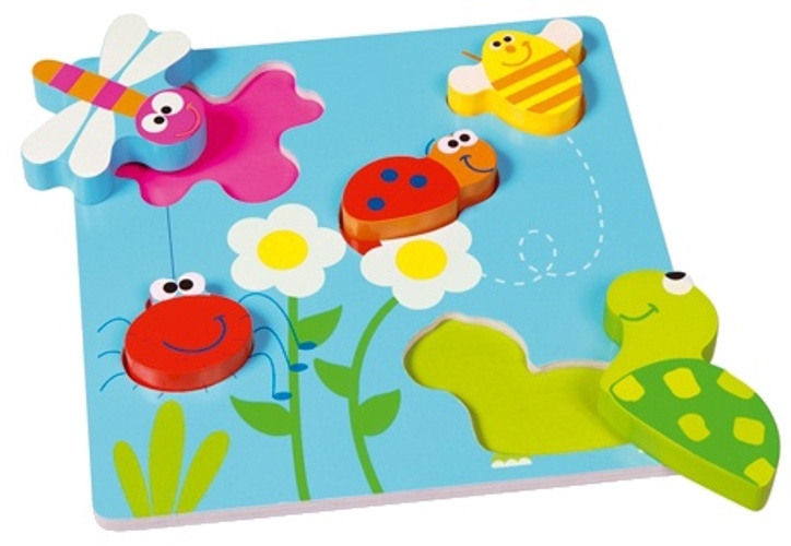 Scratch Preschool: Puzzel in Reli�f, Tuin