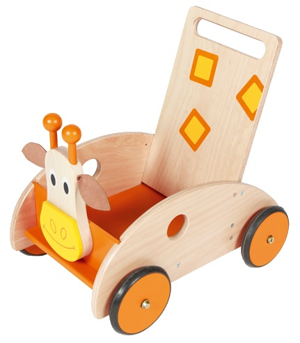 Scratch Rock en Roll: Loopwagen Giraffe