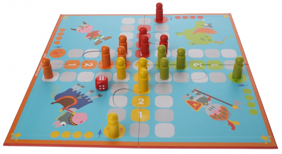 SPEL: 2 BORDSPELLEN VIKING-LADDER EN ZWAARDEN