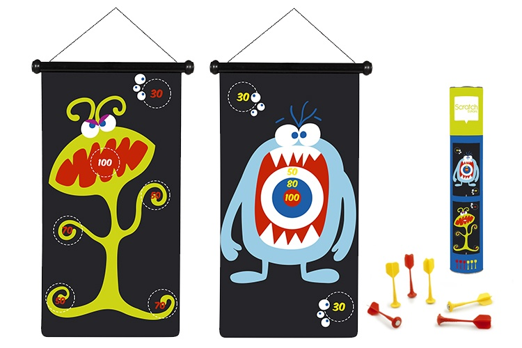 Scratch Spel: Darts Monsters Magnetisch