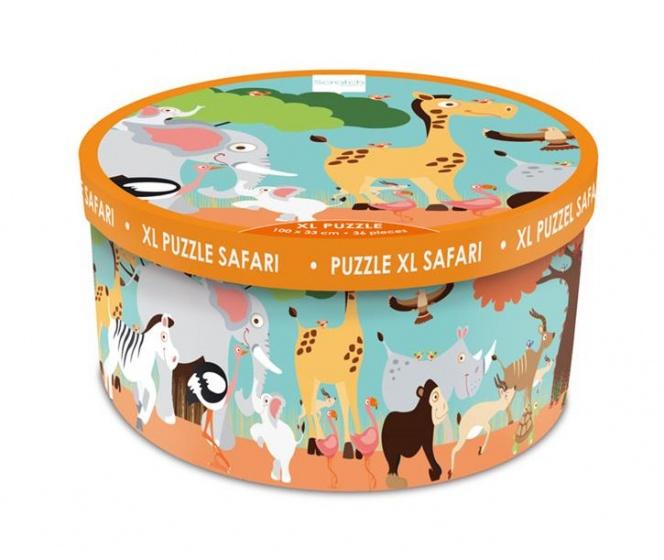 Scratch vloerpuzzel Safari XL 36 stukjes kopen