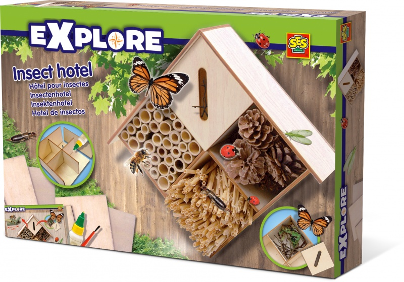 SES Creative Explore Insectenhotel 30 x 20 cm blank hout
