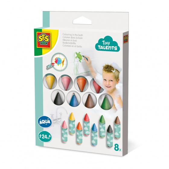 SES Creative Kleuren in bad 8 pack multicolor