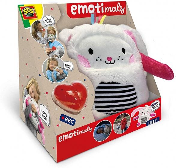 SES Creative knuffel Lilly Emotimals 30 x 20 cm konijn