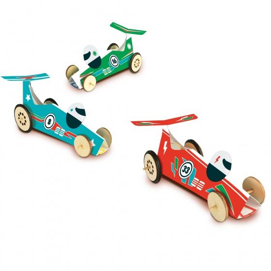 SES Creative rubber band racewagens bouwset