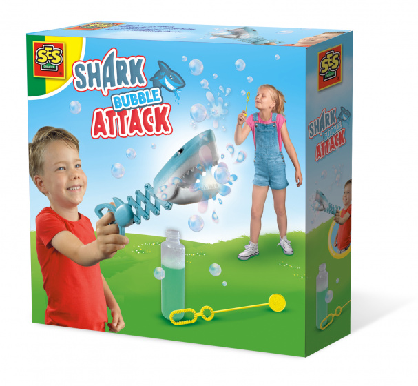 SES Creative shark bubble attack blauw 200 ml