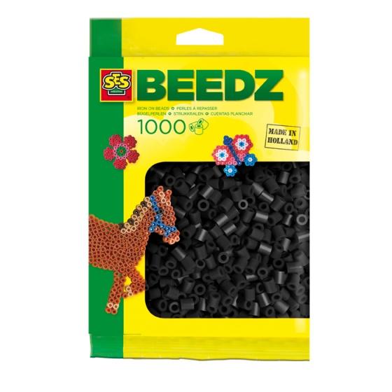 SES Strijkkralen zwart 1000 stuks