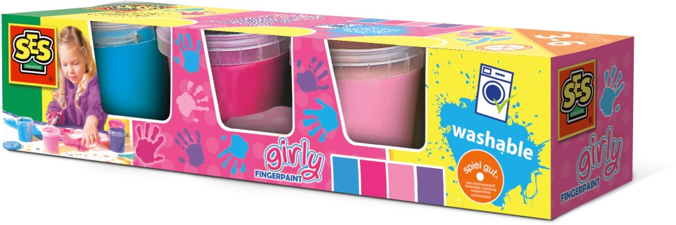 Vingerverf 4 kleuren x 150 ml