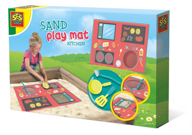 SES Creative zand speelmat keuken junior kunststof textiel 4 delig