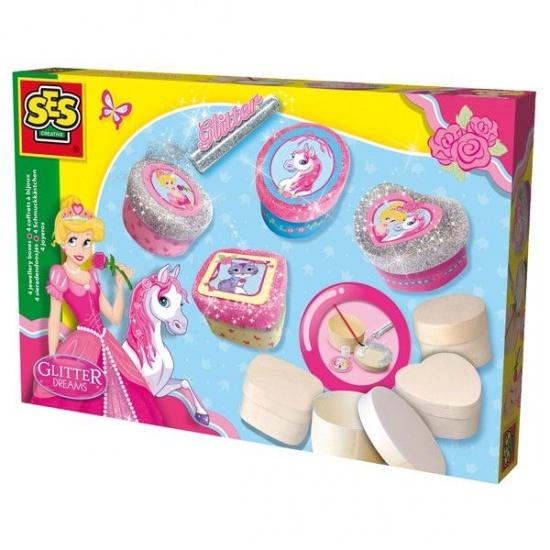 SES Glitter Dreams juwelendoosjes 4 delig