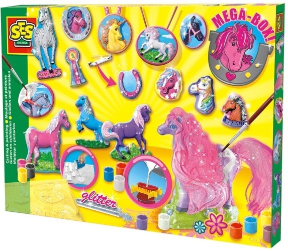SES Figuren Gieten Paarden Big Box