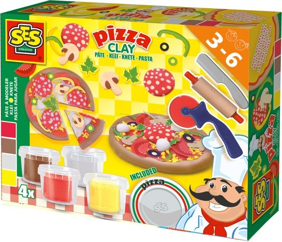 SES pizza's maken kleiset