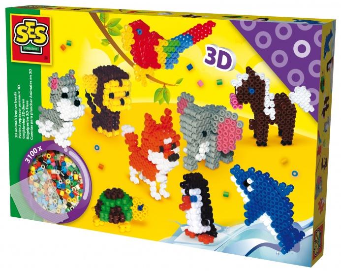SES Strijkkralen 3D: dieren
