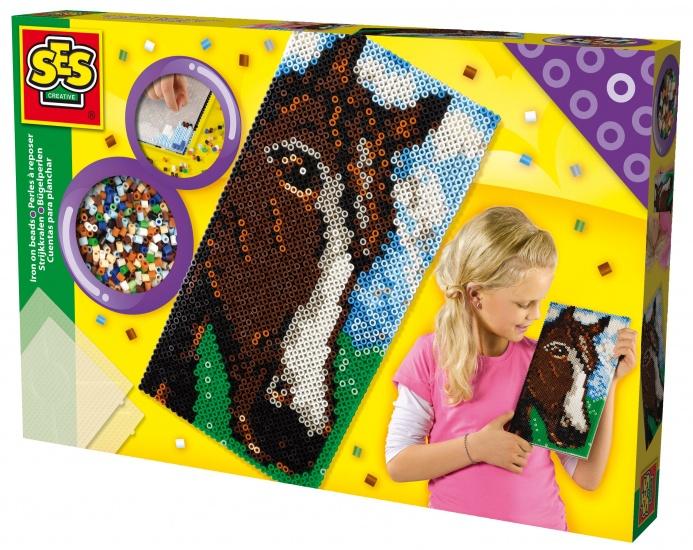 SES Strijkkralen bord XL: paard