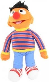 Sesamstraat pluche knuffel Ernie 42 cm