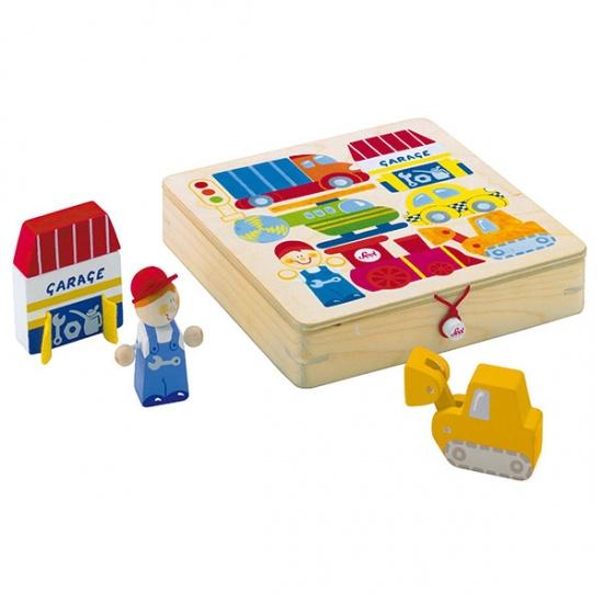 Sevi Blokkenpuzzel Transport 8 stukjes