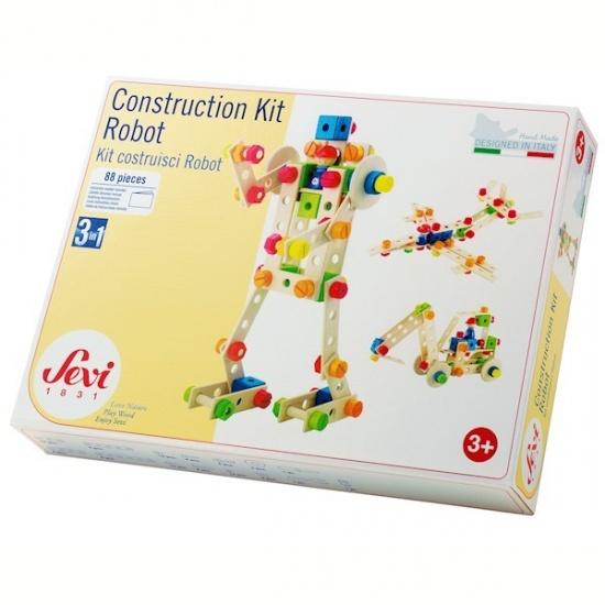 Sevi Constructie Set Robot Hout 88 delig